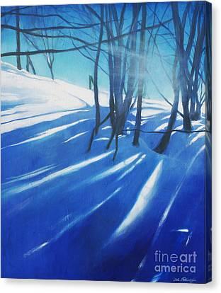 Sunny Traintrip To Hamar Canvas Print by Lin Petershagen