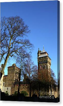 Sunny Winter Day Cardiff Castle Canvas Print by James Brunker