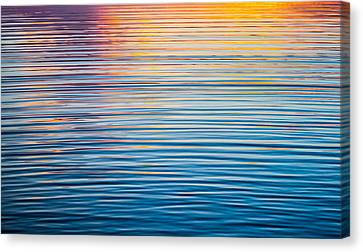 Sunrise Abstract On Calm Waters Canvas Print by Parker Cunningham