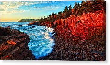 Sunrise At Acadia Panorama Canvas Print by Bill Caldwell -        ABeautifulSky Photography