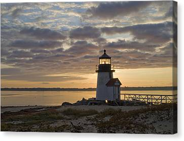 Sunrise At Brant Point Nantucket Canvas Print by Henry Krauzyk