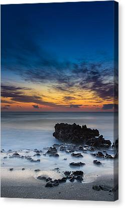 Sunrise At Coral Cove Park In Jupiter Vertical Canvas Print by Andres Leon