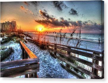 Sunrise At Cotton Bayou  Canvas Print by Michael Thomas