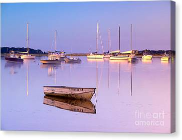 Sunrise At West Bay Osterville Cape Cod Canvas Print by Matt Suess