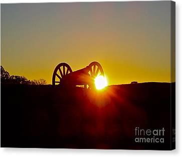 Sunrise Cannon Canvas Print by E Robert Dee