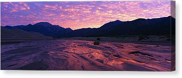 Sunrise Great Sand Dunes National Canvas Print by Panoramic Images