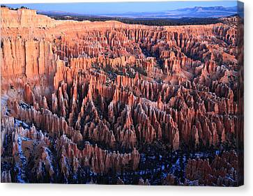 Sunrise In Bryce Canyon National Aprk Canvas Print by Pierre Leclerc Photography