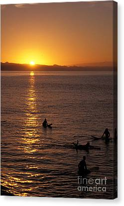 Sunrise In Capitola Canvas Print by Stan and Anne Foster