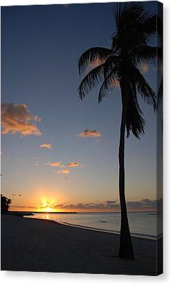 Sunrise In Key West 2 Canvas Print by Susanne Van Hulst