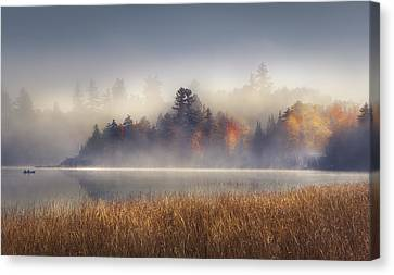 Sunrise In Lake Placid  Canvas Print by Magda  Bognar