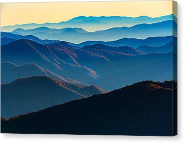Sunrise In The Smokies Canvas Print by Rick Berk