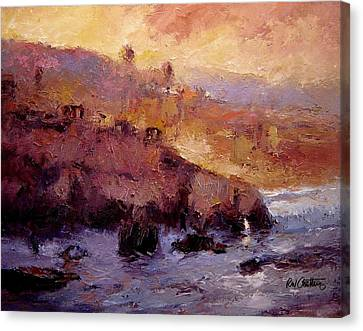 Sunrise Near Pismo Beach Iv Canvas Print by R W Goetting