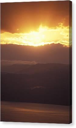 Sunrise Of  Mount Nebo In  Jordan Canvas Print by Richard Nowitz