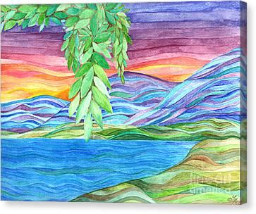 Sunrise On The Lake Canvas Print by Sue Gardiner