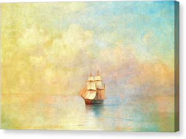 Sunrise On The Sea Canvas Print by Georgiana Romanovna