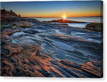 Sunrise Over Muscongus Bay Canvas Print by Rick Berk