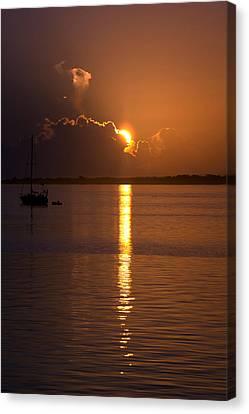 Sunrise Over The Intracoastal Canvas Print by Kristin Smith