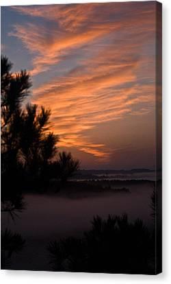 Sunrise Over The Mist Canvas Print by Douglas Barnett
