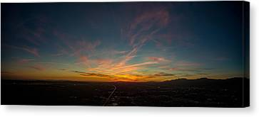 Sunset 03/23/2016 Canvas Print by Lonnie Christopher