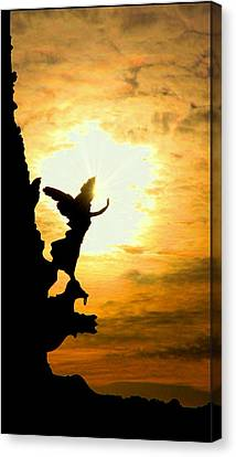 Sunset Angel Canvas Print by Valentino Visentini