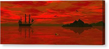 Sunset Arrival Canvas Print by Claude McCoy