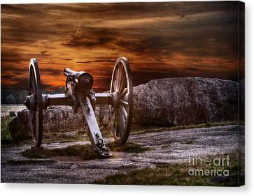 Sunset At Gettysburg Canvas Print by Randy Steele
