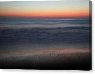 Sunset At Huntington Beach Canvas Print by Pierre Leclerc Photography