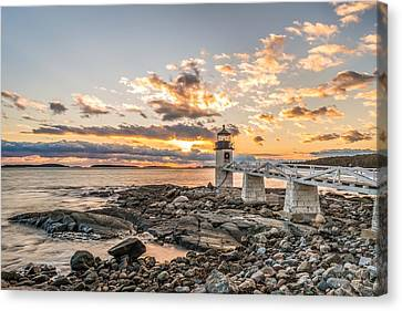 Sunset At Marshall Point Canvas Print by Tim Sullivan