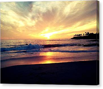 Sunset Beach Canvas Print by 2141 Photography