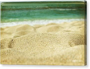 Sunset Beach Canvas Print by Sharon Mau