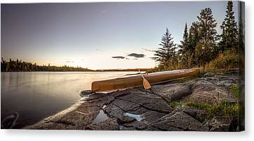 Sunset // Boundary Waters Canoe Area, Minnesota  Canvas Print by Nicholas Parker
