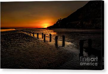 Sunset By The Beach Canvas Print by Adrian Evans
