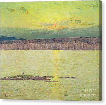 Sunset Canvas Print by Childe Hassam