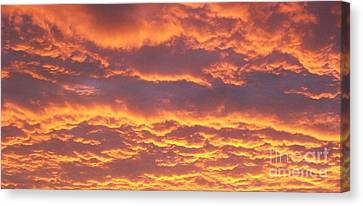 Sunset Clouds After The Storm Canvas Print by Marsha Heiken