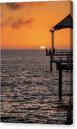 Sunset Fishing Canvas Print by Ray Warren