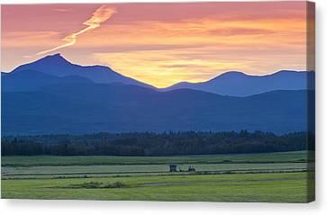 Sunset Haying Canvas Print by Alan L Graham