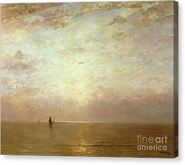 Sunset Canvas Print by Hendrik William Mesdag