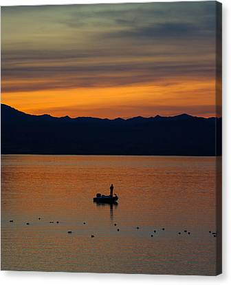 Sunset Hooker Canvas Print by Debra Souter
