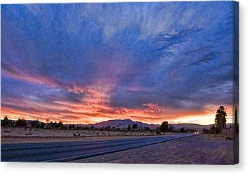 Sunset In The Desert Canvas Print by Ches Black
