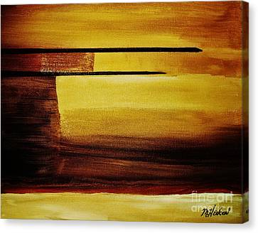Sunset In The Desert Canvas Print by Marsha Heiken
