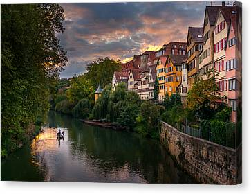 Sunset In Tubingen Canvas Print by Dmytro Korol