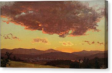 Sunset Canvas Print by Jervis McEntee