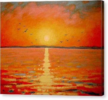 Sunset Canvas Print by John  Nolan