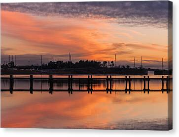 Sunset Lines Canvas Print by Kristopher Schoenleber