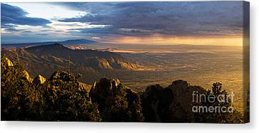 Sunset Monsoon Over Albuquerque Canvas Print by Matt Tilghman