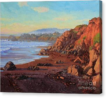 Sunset On Cambria Ca Canvas Print by Gary Kim
