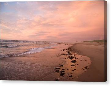 Sunset On The Beach On Prince Edward Canvas Print by Taylor S. Kennedy
