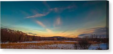 Sunset On The Hill Canvas Print by Brian MacLean