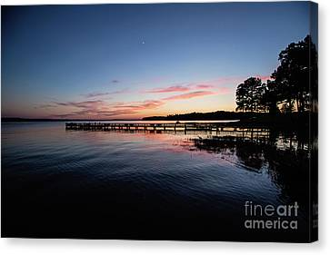 Sunset On Toledo Bend Canvas Print by Scott Pellegrin