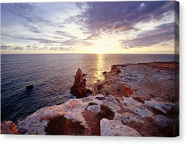 Sunset Over Cabo Rojo Puerto Rico Canvas Print by George Oze